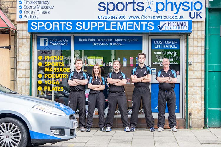 Front of Sports Physio UK clinic