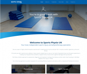 New Sports Physio UK Website by Northplanet 2017
