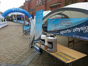 Sports massage at Oldham 10k