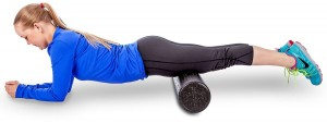 Foam Roller quads with a fully engaged core