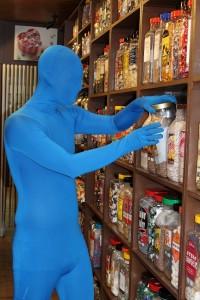 Blue Running Man